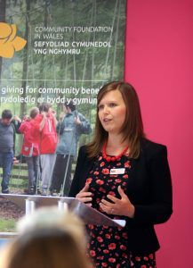 Anna speaking at Community Foundation Event